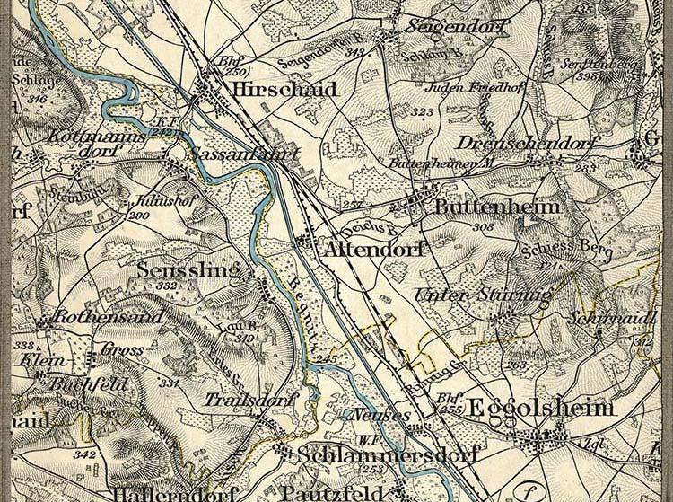 Karte Bamberg Landkarte.Gemeinde Altendorf Im Landkreis Bamberg Historische Karten
